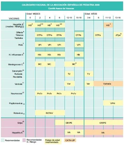 Calendario Embarazo 2008 Calendario De Vacunas 2009