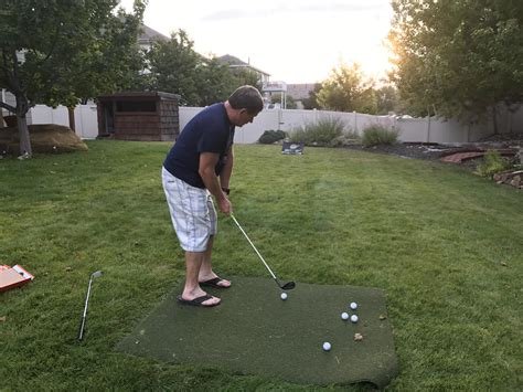 backyard golf practice backyard practice session golf gogo papa