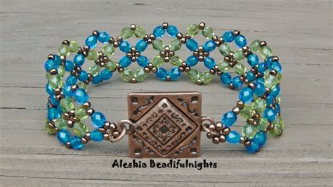 how to do bead crossing paths beaded bracelet tutorial