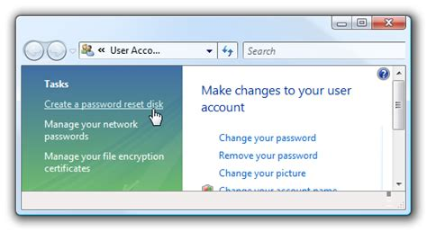 reset password vista basic how to create and use a password reset disk in windows 7