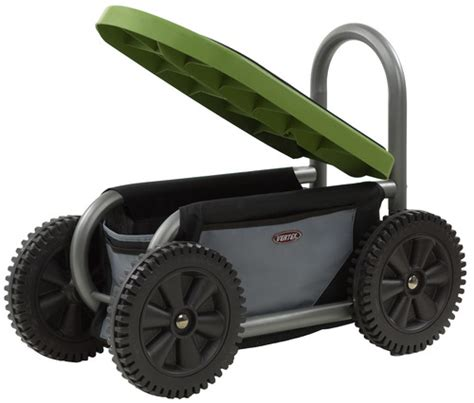 Gardening Seat With Wheels by Easy Up Atv Gardening Seat On Wheels Yard Carts Patio Lawn Garden
