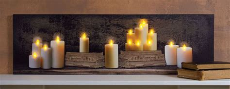 flickering light canvas wholesale radiance lighted small canvas mantle of and old