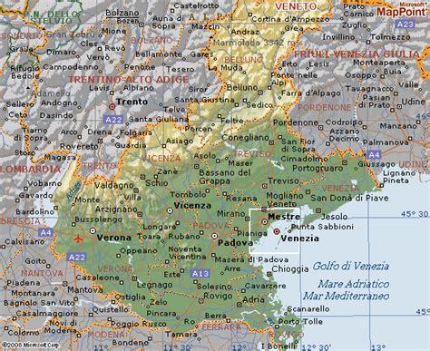 geografia veneto cartina geografica veneto