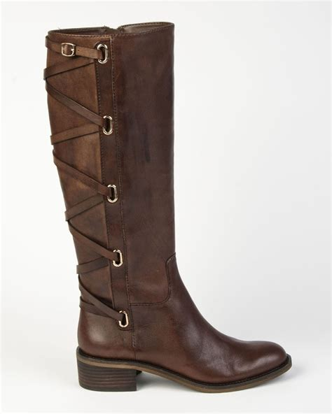 bcbg boots sloan bcbg generation janiss brown boot with back criss