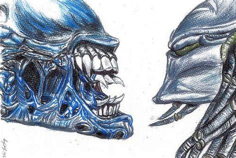 vs predator drawings drawings cool aliens to draw