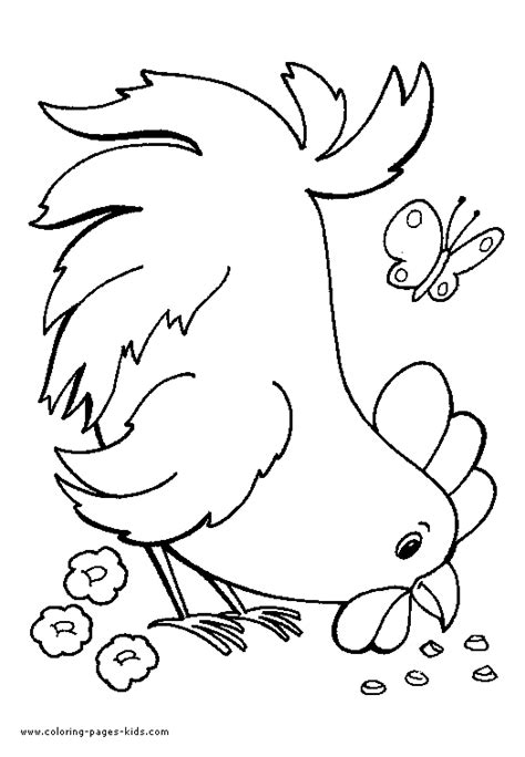 Free Part Of A Chicken Coloring Pages Chicken Coloring Pages