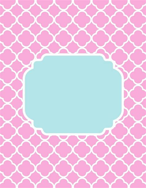 printable binder covers monogram quatrefoil monogram template printables pinterest