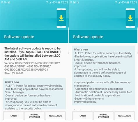 android security update samsung galaxy s6 edge gets august security update brings performance improvement