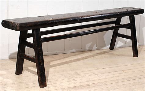 long skinny bench narrow rustic bench at 1stdibs