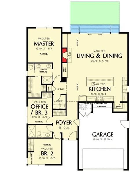 cottage floor plans one story plan 69547am one story contemporary for a small lot