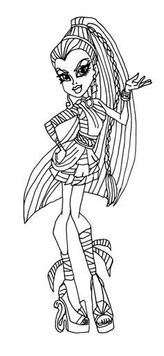 nefera boo york coloring page coloring pages 1000 images about nefera on pinterest monster high