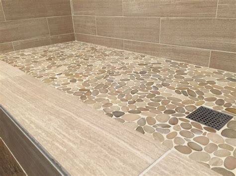 pebble shower floor sliced java pebble tile shower floor https www
