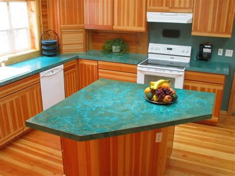 Jamie At Home Kitchen Design by Concrete Countertop Turquoise Home Renovations