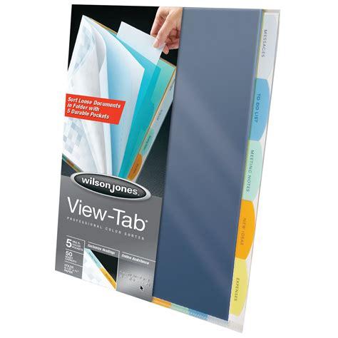 Wilson Jones Wilson Jones 174 View Tab 174 Professional Sorters Wilson Jones View Tab Presentation Binder Template