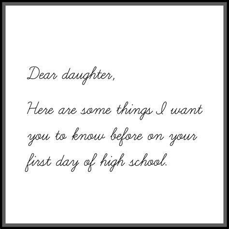 Parent Letter Day Of School letter to my on day of high school