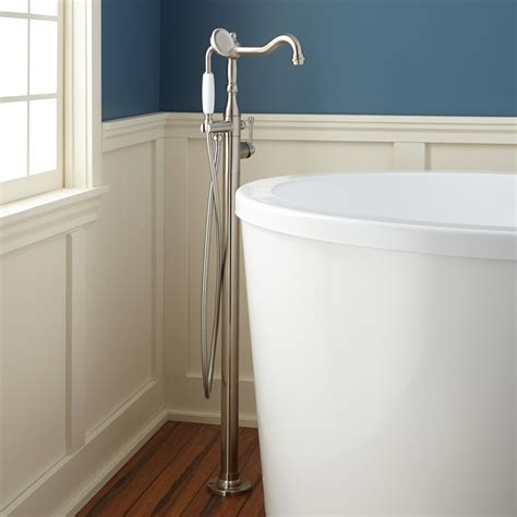 bathtub handheld shower sidonie freestanding tub faucet with hand shower