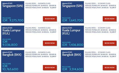Tiket Call Jakarta Bangkok Mix Promo Bagasi promo tiket garuda indonesia harga khusus payday 5 hari travelmore