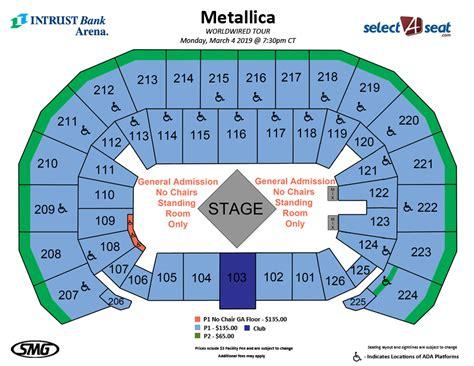seating charts   intrust bank arena