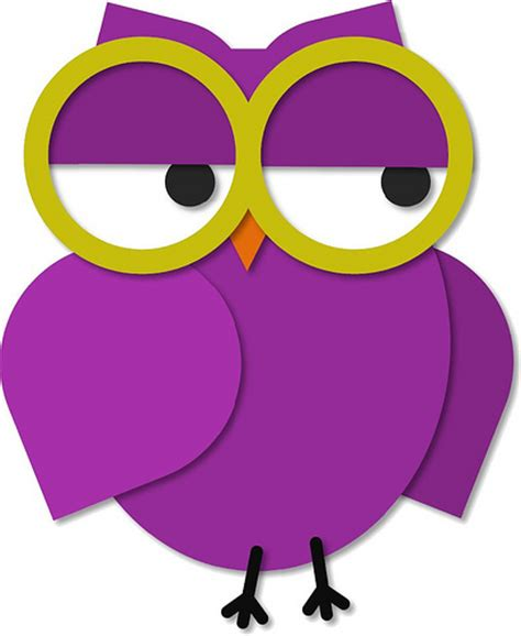 Mimi Simple Sling Geos Owl Purple Large owl with glasses flickr photo