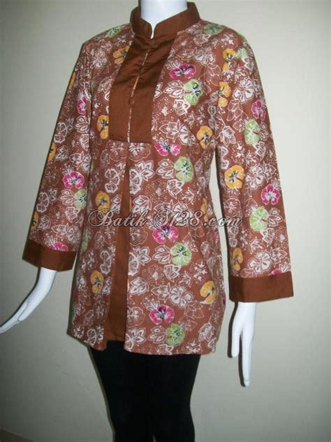 Kemeja Batik Wanita Blus Blouse Batik Blus Kerja Motif Soft No 3 17 best images about tradisional wear on models ankle straps and wooden shoe