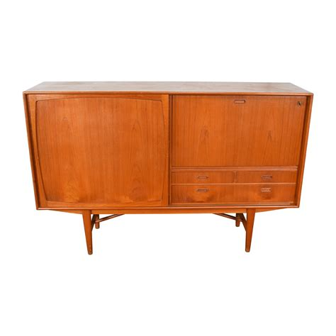 Custom Sideboard 43 teak 1950 s custom sideboard with etched glass bar interior storage
