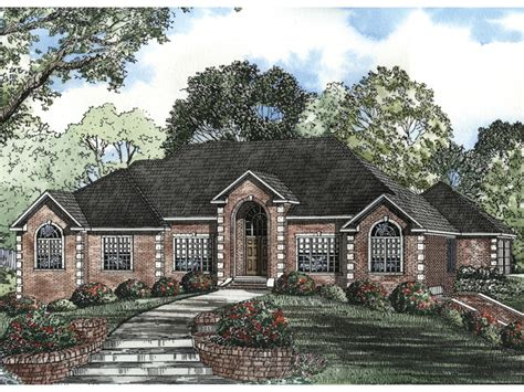 Masonry House Plans by Leroux Brick Ranch Home Plan 055s 0046 House Plans And More
