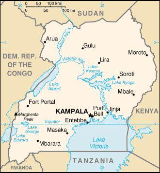 5 themes of geography uganda uganda cia map