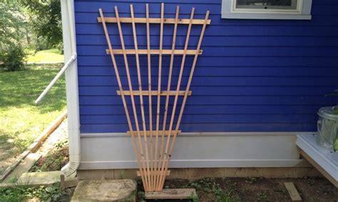 fan shaped garden trellis 6 cedar fan trellis