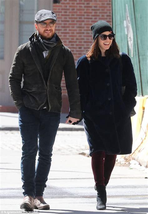james mcavoy lisa liberati james mcavoy takes stroll with girlfriend lisa liberati in