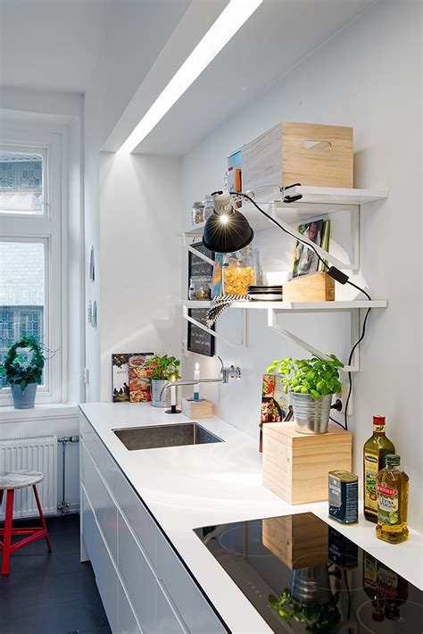 swedish apartment boasts exciting mix of old and new minimalist kitchen interior design ideas