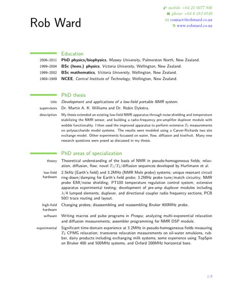 resume template nz free excel templates