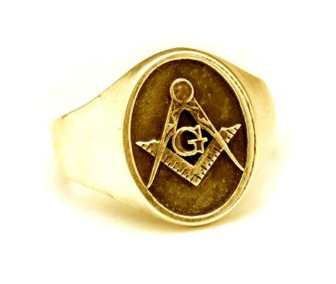 18k gold signature masonic signet ring