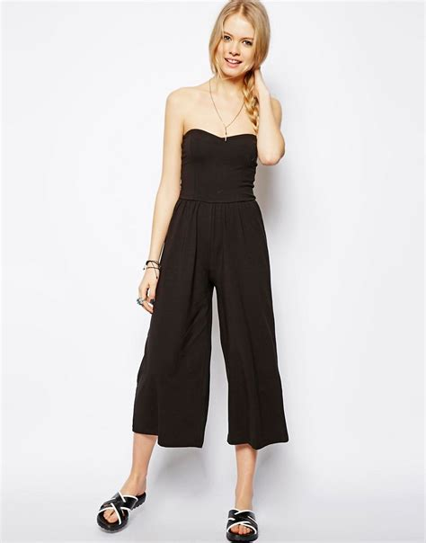 Midi Jumpsuit asos asos bandeau jumpsuit in midi length at asos