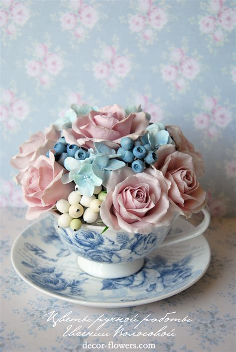 Handmade Clay Flowers - my handmade clay flowers by v on deviantart