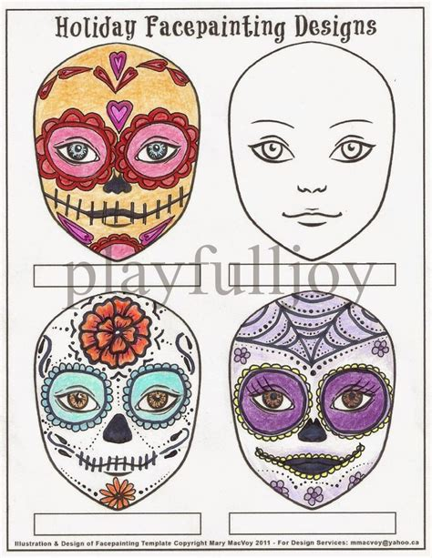 sugar skull design template 25 best images about sugar skull day of the dead