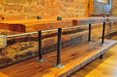 black pipe sofa table rustic media console table made from reclaimed barn wood