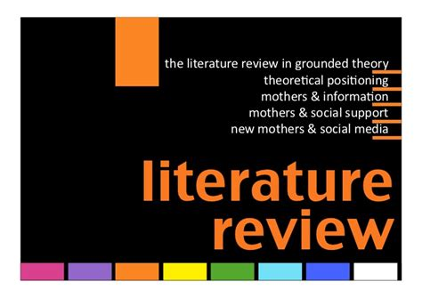Literature Review Image Media by The Information Experience Of New Mothers In Social Media A Grounded