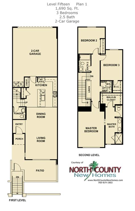 2 level floor plans level 15 floor plans new townhomes in escondido north