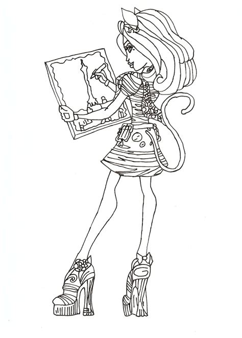 monster high coloring pages scaris free printable monster high coloring pages catrine de mew