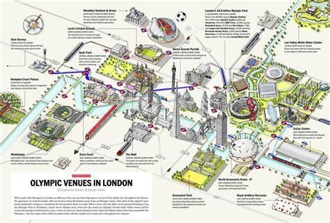 olympics venues olympic 2012 venue the entire city of london infographics