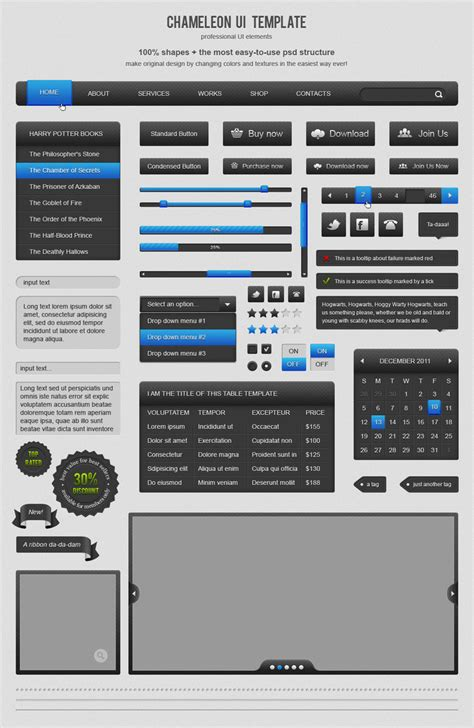 user interface templates chameleon ui template by annalitvinuk on deviantart