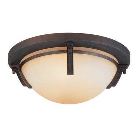 oil rubbed bronze flush mount ceiling light shop kendal lighting portobello 16 5 in w oil rubbed