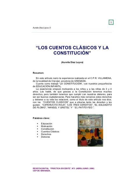 los cuentos cl 225 sicos y la constituci 243 n
