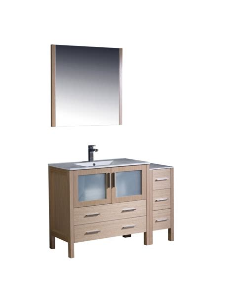 48 Inch Bathroom Vanity Light 48 Inch Single Sink Bathroom Vanity In Light Oak
