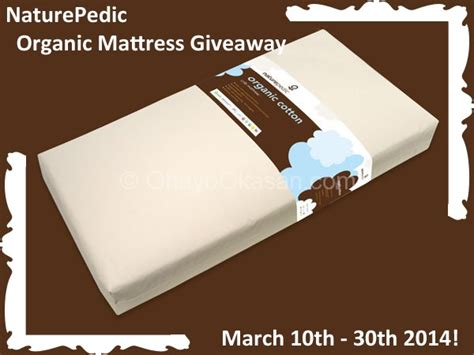 Mattress Giveaway - naturepedic 2 stage crib mattress giveaway ohayo okasan