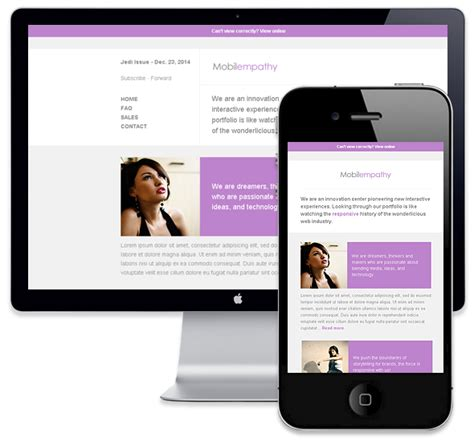 mailchimp templates responsive mobilempathy responsive email template themeforest