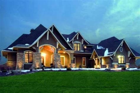 2 story houses craftsman style house plans 3651 square foot home 2 story 5 bedroom and 4 bath 4