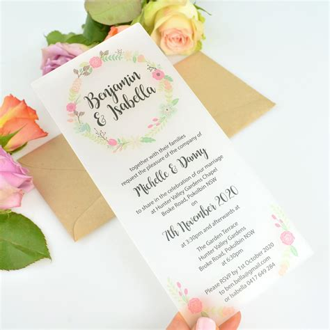 Printed Wedding Invitations by Dl Printed Frosted Acrylic Wedding Invitations