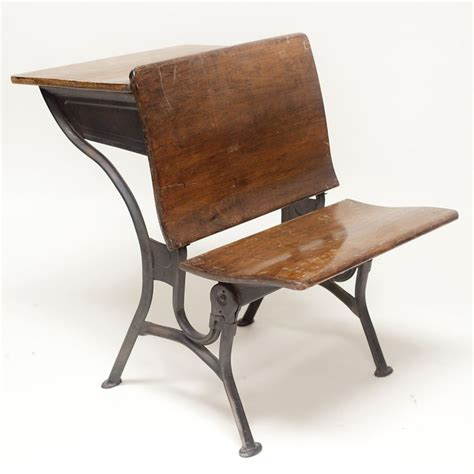 School Desk With Inkwell by Kate School Desk Vintage Wood And Metal School Desk With Inkwell And Fold Up Seat For The