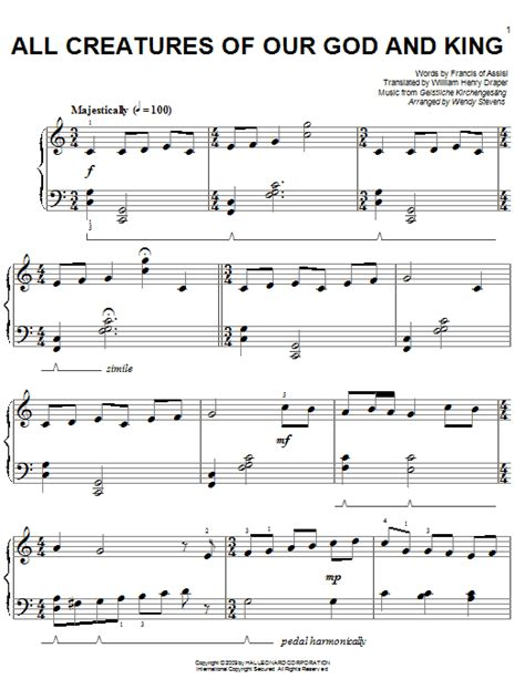 all creatures of our god and king by amy webb satb all creatures of our god and king sheet music direct